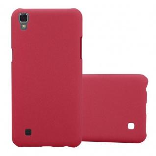 Cadorabo Hülle für LG X Power in FROSTY ROT Hardcase Handyhülle aus Plastik gegen Kratzer und Stöße Schutzhülle Bumper Ultra Slim Back Case Hard Cover