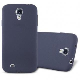 Cadorabo Hülle für Samsung Galaxy S4 in FROST DUNKEL BLAU - Handyhülle aus flexiblem TPU Silikon - Silikonhülle Schutzhülle Ultra Slim Soft Back Cover Case Bumper