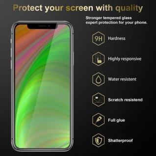 Cadorabo 3x Vollbild Panzer Folie für Apple iPhone XR - Schutzfolie in TRANSPARENT mit SCHWARZ - 3er Pack Gehärtetes (Tempered) Display-Schutzglas in 9H Härte mit 3D Touch - Vorschau 3