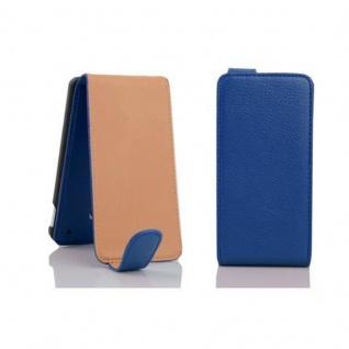 Cadorabo Hülle für HTC ONE M4 MINI in KÖNIGS BLAU - Handyhülle im Flip Design aus strukturiertem Kunstleder - Case Cover Schutzhülle Etui Tasche Book Klapp Style - Vorschau 3