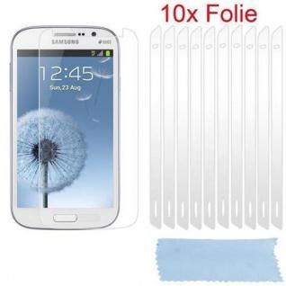 Cadorabo Displayschutzfolien für Samsung Galaxy GRAND DUOS / GRAND NEO - Schutzfolien in HIGH CLEAR ? 10 Stück hochtransparenter Schutzfolien gegen Staub, Schmutz und Kratzer