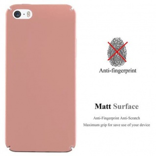 Cadorabo Hülle für Apple iPhone 5 / iPhone 5S / iPhone SE in METALL ROSE GOLD - Hardcase Handyhülle aus Plastik gegen Kratzer und Stöße - Schutzhülle Bumper Ultra Slim Back Case Hard Cover - Vorschau 2