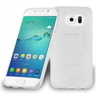 Cadorabo Hülle für Samsung Galaxy S6 EDGE PLUS in HALB TRANSPARENT - Handyhülle aus flexiblem TPU Silikon - Silikonhülle Schutzhülle Ultra Slim Soft Back Cover Case Bumper