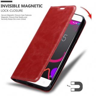 Cadorabo Hülle für BQ Aquaris M5 in APFEL ROT Handyhülle mit Magnetverschluss, Standfunktion und Kartenfach Case Cover Schutzhülle Etui Tasche Book Klapp Style - Vorschau 3