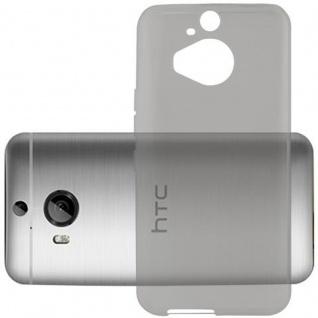 Cadorabo Hülle für HTC ONE M9 PLUS (3.Gen.) - Hülle in TRANSPARENT SCHWARZ ? Handyhülle aus TPU Silikon im Ultra Slim 'AIR' Design - Ultra Slim Soft Backcover Case Bumper