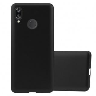 Cadorabo Hülle für Huawei P20 LITE in METALLIC SCHWARZ - Handyhülle aus flexiblem TPU Silikon - Silikonhülle Schutzhülle Ultra Slim Soft Back Cover Case Bumper