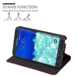 Cadorabo Hülle für Samsung Galaxy NOTE EDGE in APFEL ROT - Handyhülle mit Magnetverschluss, Standfunktion und Kartenfach - Case Cover Schutzhülle Etui Tasche Book Klapp Style - Vorschau 3