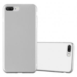 Cadorabo Hülle für Apple iPhone 8 PLUS / iPhone 7 PLUS / iPhone 7S PLUS in METALL SILBER - Hardcase Handyhülle aus Plastik gegen Kratzer und Stöße - Schutzhülle Bumper Ultra Slim Back Case Hard Cover