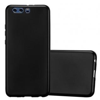 Cadorabo Hülle für Huawei P10 PLUS in METALLIC SCHWARZ - Handyhülle aus flexiblem TPU Silikon - Silikonhülle Schutzhülle Ultra Slim Soft Back Cover Case Bumper