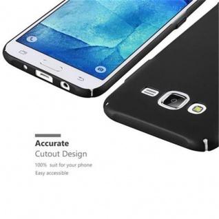 Cadorabo Hülle für Samsung Galaxy J5 2015 in METALL SCHWARZ ? Hardcase Handyhülle aus Plastik gegen Kratzer und Stöße ? Schutzhülle Bumper Ultra Slim Back Case Hard Cover - Vorschau 3