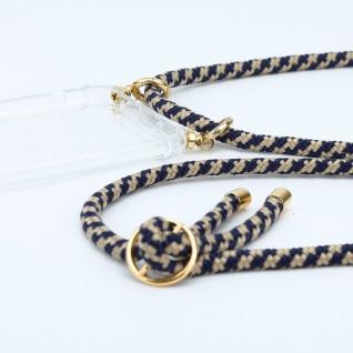 Cadorabo Handy Kette für Honor 30 in DUNKELBLAU GELB Silikon Necklace Umhänge Hülle mit Gold Ringen, Kordel Band Schnur und abnehmbarem Etui Schutzhülle - Vorschau 2