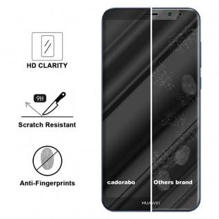 Cadorabo Vollbild Panzer Folie für Huawei MATE 10 LITE - Schutzfolie in TRANSPARENT mit SCHWARZ - Gehärtetes (Tempered) Display-Schutzglas in 9H Härte mit 3D Touch Kompatibilität - Vorschau 3