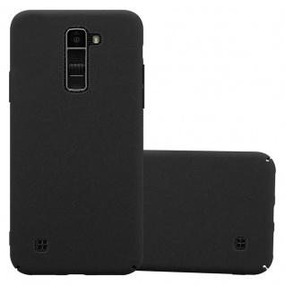 Cadorabo Hülle für LG K10 2016 in FROSTY SCHWARZ - Hardcase Handyhülle aus Plastik gegen Kratzer und Stöße - Schutzhülle Bumper Ultra Slim Back Case Hard Cover