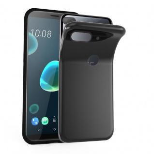 Cadorabo Hülle für HTC Desire 12 PLUS in SCHWARZ - Handyhülle aus flexiblem TPU Silikon - Silikonhülle Schutzhülle Ultra Slim Soft Back Cover Case Bumper
