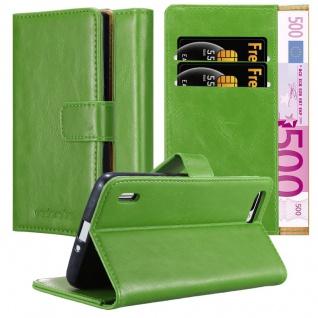 Cadorabo Hülle für Honor 6 PLUS in GRAS GRÜN Handyhülle mit Magnetverschluss, Standfunktion und Kartenfach Case Cover Schutzhülle Etui Tasche Book Klapp Style