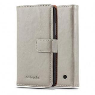 Cadorabo Hülle für Nokia Lumia 640 in CAPPUCCINO BRAUN ? Handyhülle mit Magnetverschluss, Standfunktion und Kartenfach ? Case Cover Schutzhülle Etui Tasche Book Klapp Style