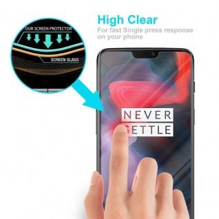 Cadorabo Panzer Folie für OnePlus 6 - Schutzfolie in KRISTALL KLAR - Gehärtetes (Tempered) Display-Schutzglas in 9H Härte mit 3D Touch Kompatibilität - Vorschau 5