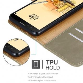 Cadorabo Hülle für LG STYLUS 2 in CAPPUCCINO BRAUN - Handyhülle mit Magnetverschluss, Standfunktion und Kartenfach - Case Cover Schutzhülle Etui Tasche Book Klapp Style - Vorschau 3