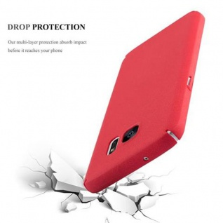 Cadorabo Hülle für Samsung Galaxy S7 in FROSTY ROT - Hardcase Handyhülle aus Plastik gegen Kratzer und Stöße - Schutzhülle Bumper Ultra Slim Back Case Hard Cover - Vorschau 4