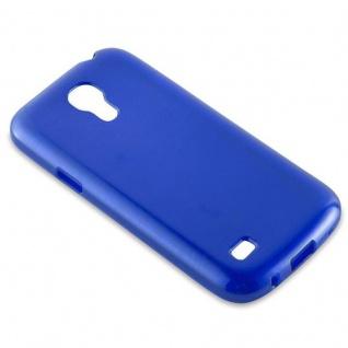Cadorabo Hülle für Samsung Galaxy S4 MINI in BLAU - Handyhülle aus flexiblem TPU Silikon - Silikonhülle Schutzhülle Ultra Slim Soft Back Cover Case Bumper - Vorschau 2
