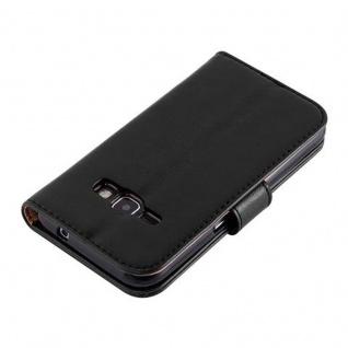 Cadorabo Hülle für Samsung Galaxy J1 2016 in GRAPHIT SCHWARZ - Handyhülle mit Magnetverschluss, Standfunktion und Kartenfach - Case Cover Schutzhülle Etui Tasche Book Klapp Style - Vorschau 2