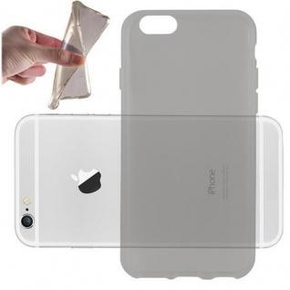 Cadorabo Hülle für Apple iPhone 6 / iPhone 6S in TRANSPARENT SCHWARZ - Handyhülle aus flexiblem TPU Silikon - Silikonhülle Schutzhülle Ultra Slim Soft Back Cover Case Bumper