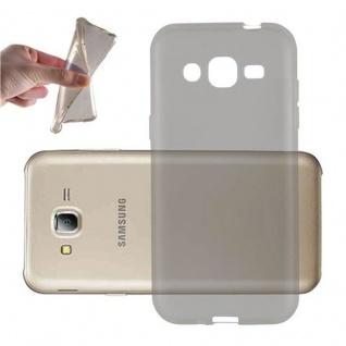 Cadorabo Hülle für Samsung Galaxy J2 2015 in TRANSPARENT SCHWARZ - Handyhülle aus flexiblem TPU Silikon - Silikonhülle Schutzhülle Ultra Slim Soft Back Cover Case Bumper - Vorschau 1