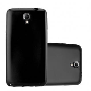 Cadorabo Hülle für Samsung Galaxy NOTE 3 NEO in METALLIC SCHWARZ - Handyhülle aus flexiblem TPU Silikon - Silikonhülle Schutzhülle Ultra Slim Soft Back Cover Case Bumper