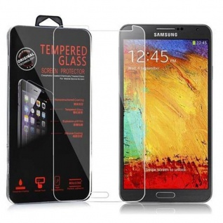 Cadorabo Panzerglas für Samsung Galaxy NOTE 3 - Schutzfolie in KRISTALL KLAR ? Gehärtetes (Tempered) Display-Schutzglas in 9H Härte mit 3D Touch Kompatibilität