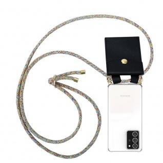 Cadorabo Handy Kette für Samsung Galaxy NOTE 20 PLUS in RAINBOW Silikon Necklace Umhänge Hülle mit Gold Ringen, Kordel Band Schnur und abnehmbarem Etui Schutzhülle