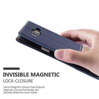 Cadorabo Hülle für Samsung Galaxy A3 2015 in DUNKEL BLAU BRAUN ? Handyhülle mit Magnetverschluss, Standfunktion und Kartenfach ? Case Cover Schutzhülle Etui Tasche Book Klapp Style - Vorschau 5