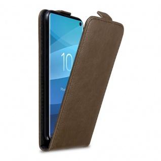 Cadorabo Hülle für Samsung Galaxy S10 in KAFFEE BRAUN Handyhülle im Flip Design mit Magnetverschluss Case Cover Schutzhülle Etui Tasche Book Klapp Style