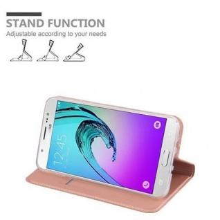 Cadorabo Hülle für Samsung Galaxy J7 2016 in CLASSY ROSÉ GOLD - Handyhülle mit Magnetverschluss, Standfunktion und Kartenfach - Case Cover Schutzhülle Etui Tasche Book Klapp Style - Vorschau 4