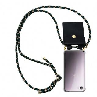 Cadorabo Handy Kette für HTC Desire 12 in CAMOUFLAGE - Silikon Necklace Umhänge Hülle mit Gold Ringen, Kordel Band Schnur und abnehmbarem Etui ? Schutzhülle