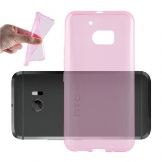 Cadorabo Hülle für HTC 10 (One M10) in TRANSPARENT PINK - Handyhülle aus flexiblem TPU Silikon - Silikonhülle Schutzhülle Ultra Slim Soft Back Cover Case Bumper