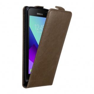 Cadorabo Hülle für Samsung Galaxy XCover 4 in KAFFEE BRAUN - Handyhülle im Flip Design mit unsichtbarem Magnetverschluss - Case Cover Schutzhülle Etui Tasche Book Klapp Style