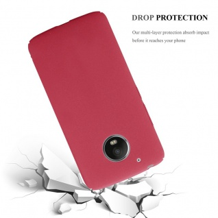 Cadorabo Hülle für Motorola MOTO G5 in FROSTY ROT - Hardcase Handyhülle aus Plastik gegen Kratzer und Stöße - Schutzhülle Bumper Ultra Slim Back Case Hard Cover - Vorschau 4