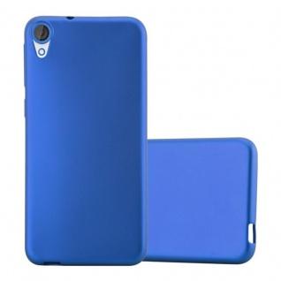 Cadorabo Hülle für HTC DESIRE 820 in METALLIC BLAU - Handyhülle aus flexiblem TPU Silikon - Silikonhülle Schutzhülle Ultra Slim Soft Back Cover Case Bumper - Vorschau 1