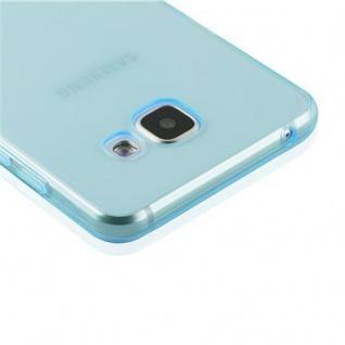 Cadorabo Hülle für Samsung Galaxy A3 2016 in TRANSPARENT BLAU - Handyhülle aus flexiblem TPU Silikon - Silikonhülle Schutzhülle Ultra Slim Soft Back Cover Case Bumper - Vorschau 5