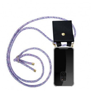 Cadorabo Handy Kette für Huawei MATE 20 in UNICORN Silikon Necklace Umhänge Hülle mit Gold Ringen, Kordel Band Schnur und abnehmbarem Etui Schutzhülle