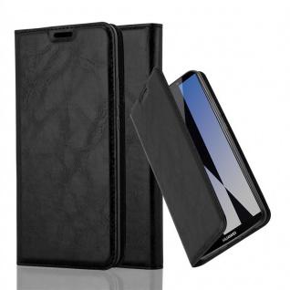Cadorabo Hülle für Huawei MATE 10 PRO in NACHT SCHWARZ - Handyhülle mit Magnetverschluss, Standfunktion und Kartenfach - Case Cover Schutzhülle Etui Tasche Book Klapp Style