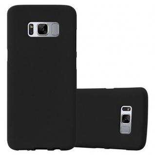 Cadorabo Hülle für Samsung Galaxy S8 PLUS - Hülle in FROST SCHWARZ ? Handyhülle aus TPU Silikon im matten Frosted Design - Ultra Slim Soft Backcover Case Bumper