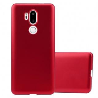 Cadorabo Hülle für LG G7 ThinQ in METALLIC ROT - Handyhülle aus flexiblem TPU Silikon - Silikonhülle Schutzhülle Ultra Slim Soft Back Cover Case Bumper