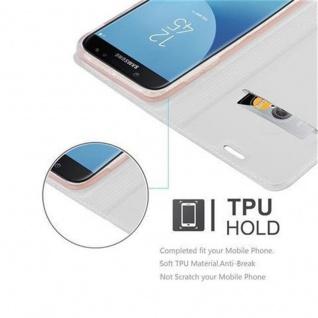 Cadorabo Hülle für Samsung Galaxy J3 2017 in CLASSY SILBER - Handyhülle mit Magnetverschluss, Standfunktion und Kartenfach - Case Cover Schutzhülle Etui Tasche Book Klapp Style - Vorschau 2