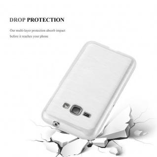Cadorabo Hülle für Samsung Galaxy J1 2016 in SILBER - Handyhülle aus flexiblem TPU Silikon - Silikonhülle Schutzhülle Ultra Slim Soft Back Cover Case Bumper - Vorschau 4