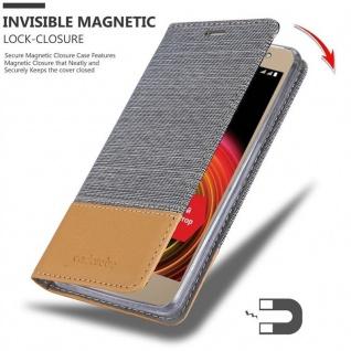 Cadorabo Hülle für LG X POWER 2 in HELL GRAU BRAUN - Handyhülle mit Magnetverschluss, Standfunktion und Kartenfach - Case Cover Schutzhülle Etui Tasche Book Klapp Style - Vorschau 3