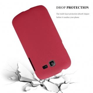 Cadorabo Hülle für Samsung Galaxy TREND LITE in FROSTY ROT - Hardcase Handyhülle aus Plastik gegen Kratzer und Stöße - Schutzhülle Bumper Ultra Slim Back Case Hard Cover - Vorschau 3