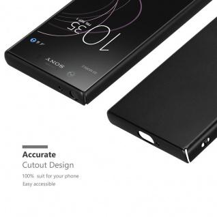 Cadorabo Hülle für Sony Xperia XZ1 Compact in METALL SCHWARZ - Hardcase Handyhülle aus Plastik gegen Kratzer und Stöße - Schutzhülle Bumper Ultra Slim Back Case Hard Cover - Vorschau 5