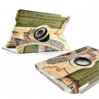 Cadorabo - Apple iPad AIR (5. Generation) Schutzhülle im Book Style mit 360° Standfunktion im Design 'Retro World' - Case Cover Bumper Etui in RETROWORLD GRÜN