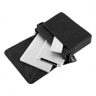 """"""" Cadorabo ? Laptop / Tablet Tasche für 15''"""" Zoll Notebooks aus Kunstleder mit Fächern, Gurt und Tabletfach ? Notebook Umhängetasche Aktentasche Tragetasche Computertasche in MANGAN SCHWARZ"""" - Vorschau 5"""